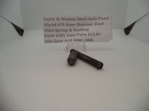 6395 Smith & Wesson Model 639 9 MM Main Spring & Bushing Stainless Steel Used Parts