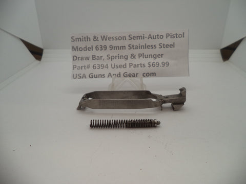 6394 Smith & Wesson Model 639 9 MM Draw Bar, Spring & Plunger Used Parts