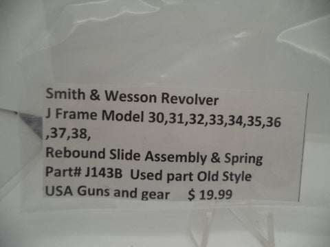 J143B Smith and Wesson Revolver J Frame 30-38 Rebound Slide Assembly & Spring