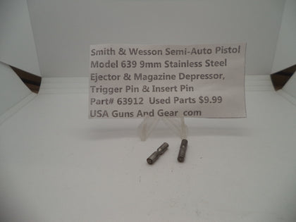 63912 Smith & Wesson Model 639 Trigger Pin & Insert Pin Stainless Steel Used Parts