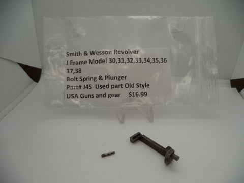 J45 Smith and Wesson Revolver J Frame Model 30-38 Bolt Spring and Plunger