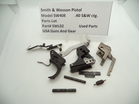 SWL02 Smith & Wesson Pistol Model SW40E Parts Lot Used .40 ctg.