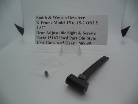 Copy of Part# 15163 Smith & Wesson K Frame Model 15 to 15-2 ONLY Rear Adjustable Sight & Screws