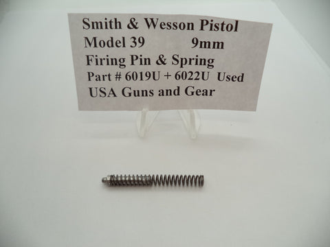 6019U+6022U Smith & Wesson Pistol Model 39 Plunger & Spring Used Part 9MM