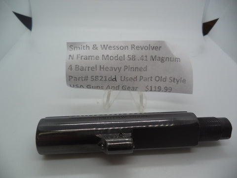"5821dd Smith & Wesson Used N Frame Model 58 .41 Mag.  4"" Heavy Pinned Barrel"