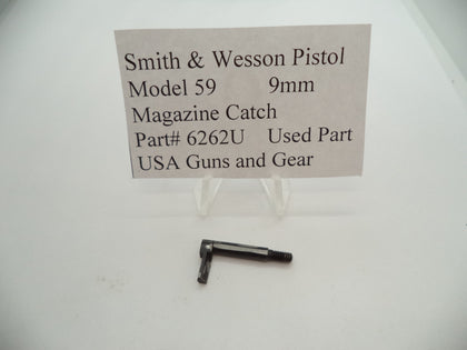 6262U Smith & Wesson Pistol Model 59 Magazine Catch Used Part 9MM