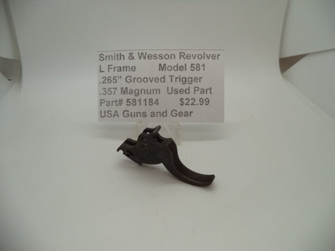"581184 Smith & Wesson L Frame Model 581 Trigger .265"" Wide .357 magnum Used"