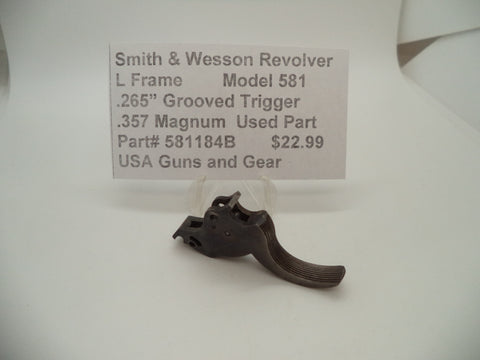 "581184B Smith & Wesson L Frame Model 581 Trigger .265"" Wide .357 Magnum Used"