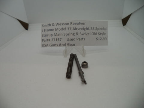 37167 Smith & Wesson J Frame Model 37 Stirrup Main spring & Swivel Used
