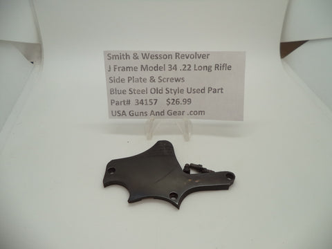 34157 Smith & Wesson J Frame Model 34 Used Side Plate and Screws .22 Long Rifle