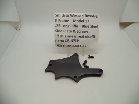 KB15717 Smith & Wesson Used K Frame Model 17 .22 Long Rifle Side Plate & Screws
