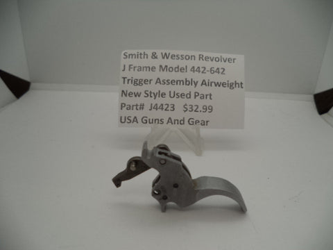 Part#J4423 Smith & Wesson Revolver J Frame Model 442-642 Trigger Assembly Airweight