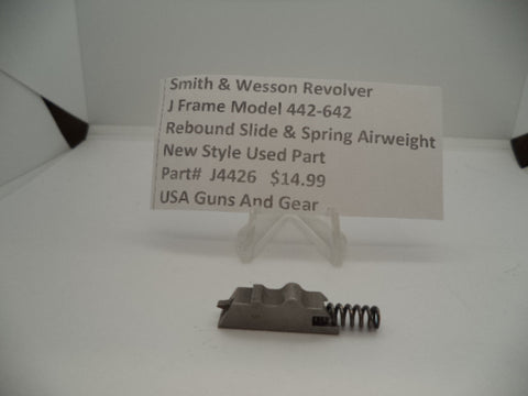 Part#J4426 Smith & Wesson Revolver J Frame Model 442-642 Rebound Slide & Spring Used