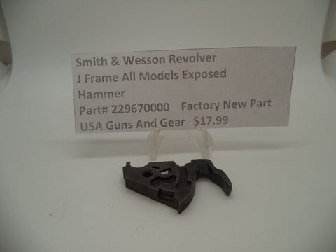 229670000 Smith & Wesson J Frame All Models Exposed Hammer New