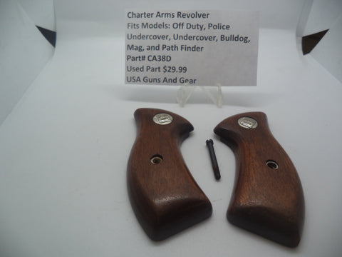 CA38D Charter Arms Revolver Fits Several Models Used Wood Pistol Grips & Screw