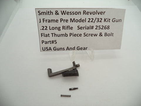 5 Smith & Wesson Revolver I Frame Pre Model 22/32 Kit Gun Parts Lot Used
