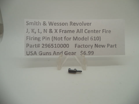 296510000 Smith & Wesson J K L N X Frames All Center Fire Models Firing Pin