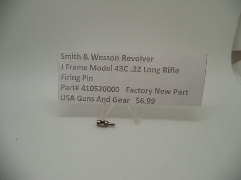410520000 Smith & Wesson J Frame Model 43C Firing Pin .22LR Factory New Part