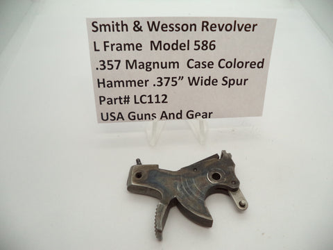"LC112 Smith & Wesson L Frame Model 586 Hammer .375"" Wide Spur .357 Magnum"