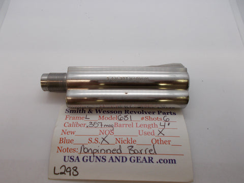 "L293 Smith And Wesson L Frame Model 681 Used 4"" Barrel .357 Mag Stainless"