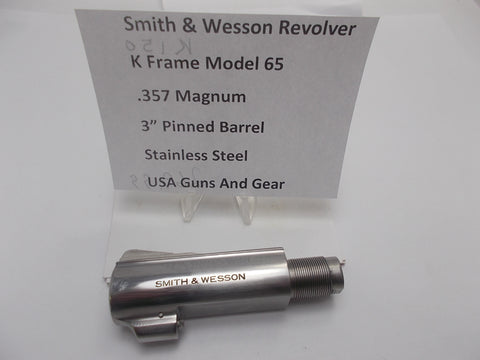 "K150 Smith and Wesson K Frame Model 65 3"" Barrel SS Used 357Mag"