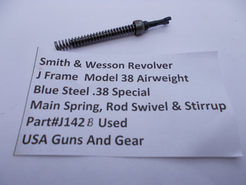 J142B Smith & Wesson Used J Frame Model 38 Main Spring & Stirrup with Rod Swivel