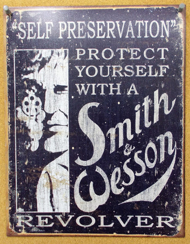 MS007 Smith & Wesson Memorabilia Wall Decor Sign