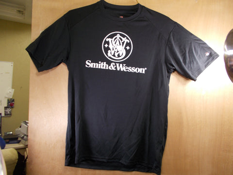 TS011 Smith & Wesson New Men's Black Athletic T-Shirt Badger Sport Sweat Resistant