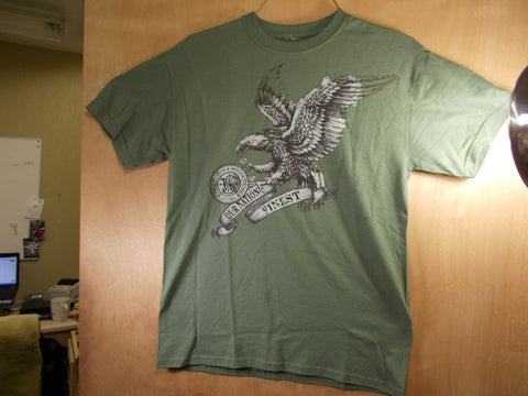 "TS014 Smith & Wesson New ""Our Nations Finest"" T-Shirt Forest Green"