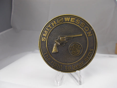 "SW001 Smith & Wesson Vintage 1970's ""The Right To Bear Arms"" Belt Buckle"