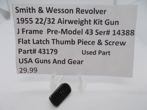 43179 J Frame Pre Model 43,1955 22/32 Airweight Thumb piece & Screw Used Part