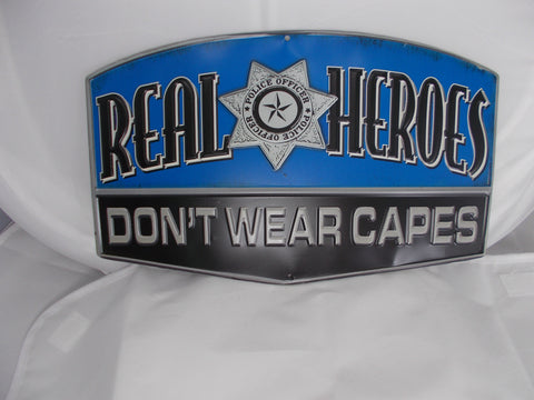 HL041 Real Heroes Police Officer Tin Sign