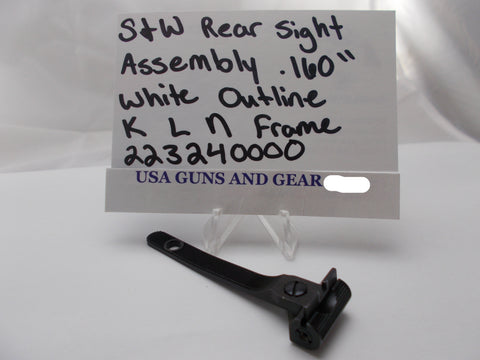 "223240000 Smith & Wesson Revolver Rear Sight Assembly .160"" White Outline K, L, N-Frame"