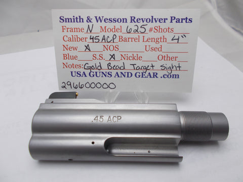 "296600000 Smith and Wesson N Frame Model 625 4"" Barrel SS New 45 ACP"