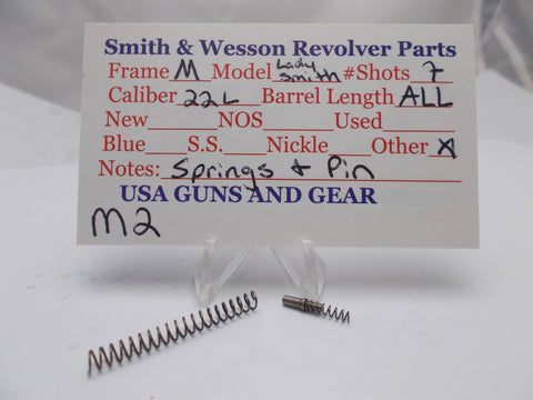 M2 Smith and Wesson M Frame Model LadySmith Springs & Pin Used 22 Long