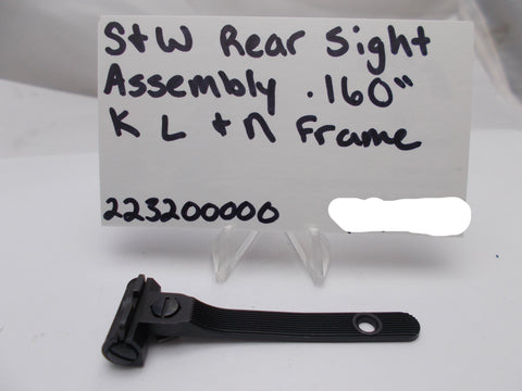 223200000 Smith and Wesson K L & N Frame Rear Sight Assembly .160""