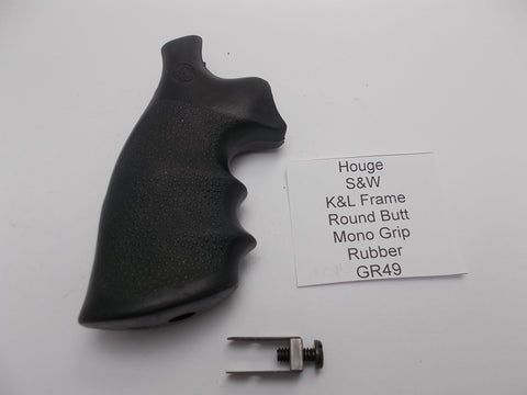 GR49 Houge S&W K&L Frame Factory Vintag Mono Grips Round Butt