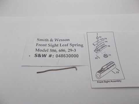USA Guns And Gear - USA Guns And Gear Front Sight Leaf Spring - Gun Parts Smith & Wesson - Smith & Wesson