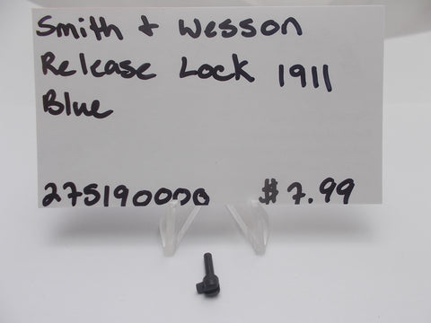 275190000 Smith & Wesson Release Lock 1911 Blue