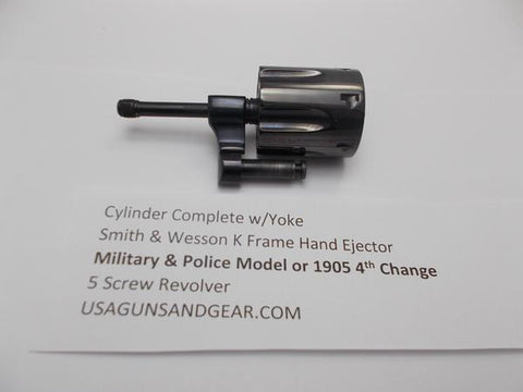 K256 S&W K Frame Military & Police Model 1905 4th Change Cylinder & Yoke Blue