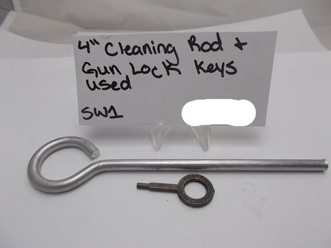 "SW1 4"" Cleaning Rod & Gun Lock Key Used"