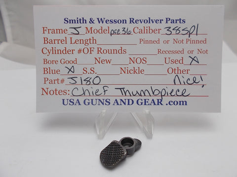 J180 Smith and Wesson J Frame Model Pre 36 Thumbpiece Blue Used 38Spl