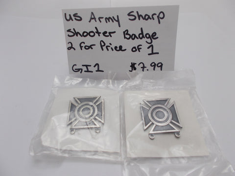 GI1 US Army Sharp Shooter Army Qualification Badge 2 for 1