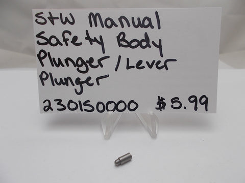 230150000 Smith and Wesson Manual Safety Body Plunger / Lever Plunger