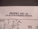 DM41 Smith & Wesson Model 41 .22 Autoloading Pistol Parts Diagram COPY