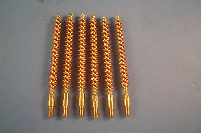 BB223 Bronze Rifle/Pistol Bore Cleaning Brushes Six Each Lot