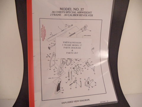 DJ37 Smith & Wesson J Frame Model 37 .38 Chiefs Special Airweight Parts Diagram COPY