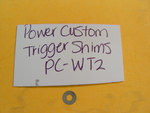 PC-WT2 Smith & Wesson New K, L & N Frame Power Custom Trigger Sideplate Shim