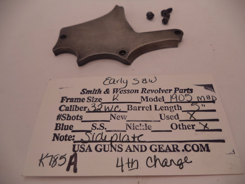 K785A Smith & Wesson Used K Frame Model 1905 M&P Early .32 Special Sideplate