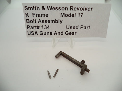 134 Smith & Wesson Revolver K Frame Model 17 Bolt Assembly Used Part